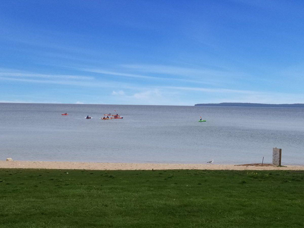 hotel guest free kayaking on lake huron